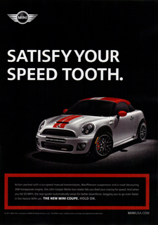 SATISFY YOUR SPEED TOOTH. ad