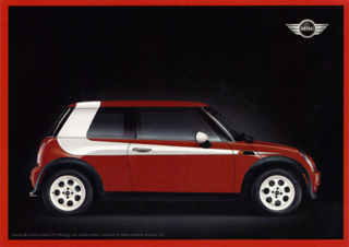 MINI USA Starsky & Hutch MINI postcard