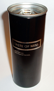 TASTE OF MINI. can (front)