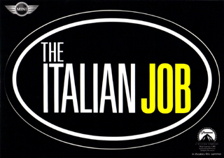 The Italian Job oval sticker