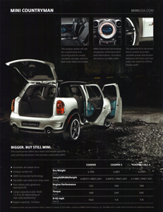 MINI Countryman preview sheet (back)