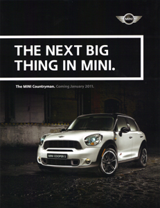 MINI Countryman preview sheet (front)