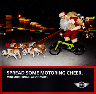 MINI MotoringGear 2012/2013 holiday catalog.
