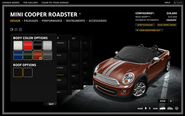 MINI USA Configurator 2012 Roadster