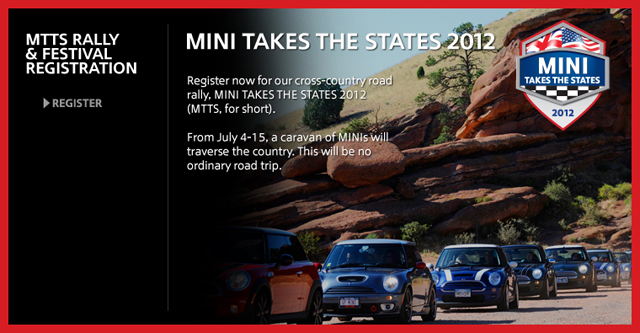 MINI Takes the States 2012 registration