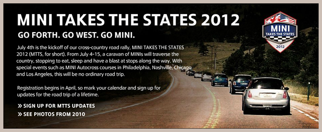 MINI Takes the States 2012 update