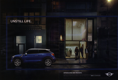 UNSTILL LIFE. MINI Paceman ad (2 page)