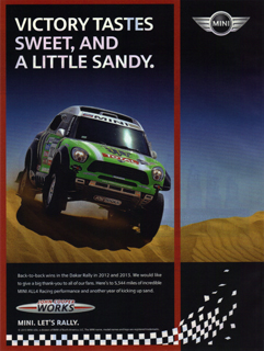 VICTORY TASTES SWEET, AND A LITTLE SANDY. print ad