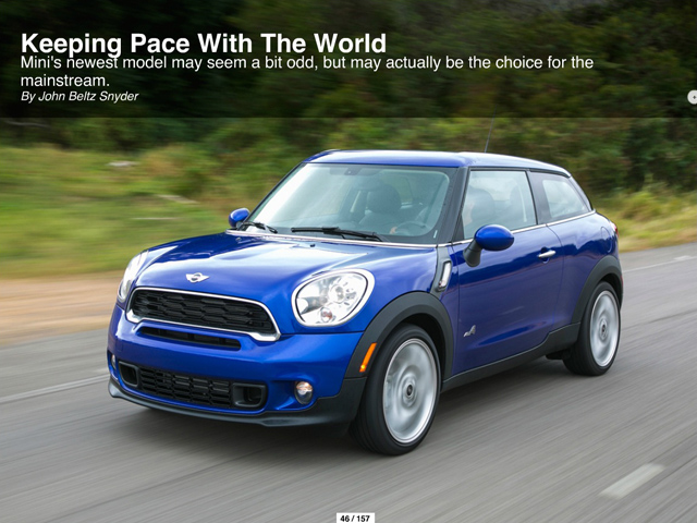 Winding Road (May 2013) MINI Paceman