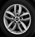 5-Star Spoke Alloy Wheel Silver