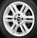 6-Star Spoke Alloy Wheel White