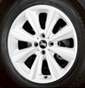 Conical Spoke Alloy Wheel White