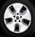 Tunnel Spoke Alloy Wheel White