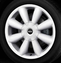 Turbo Fan Spoke Alloy Wheel White